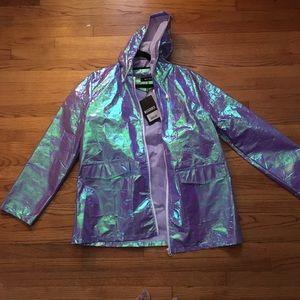 2f0a3f288b329 Jackets   Coats - PURPLE HOLO RAINCOAT